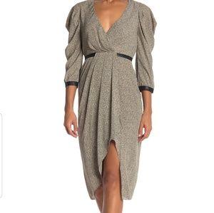BCBG MAXAZRIA Mini Camo Leopard Print Dress